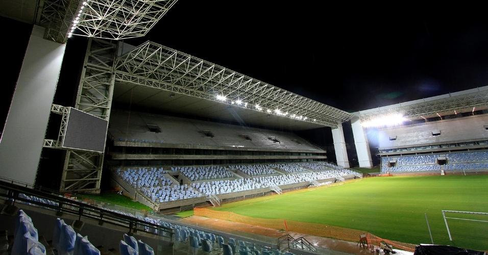 Arena Pantanal realizou na segunda-feira (11/03) o primeiro teste de iluminação