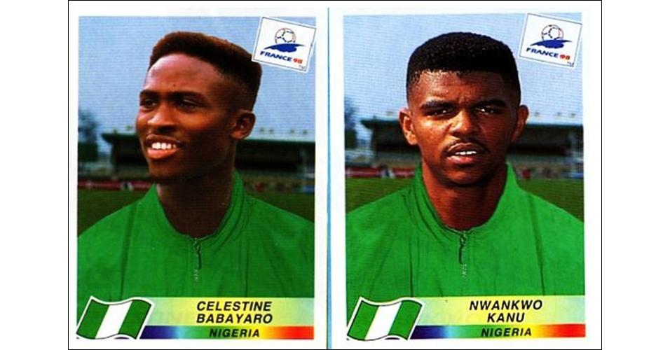 Celestine Babayaro e Nwankwo Kanu - Nigéria 1998