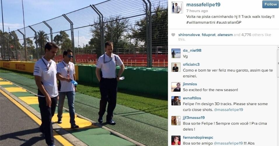 Felipe Massa estreará pela Williams neste domingo, no GP australiano