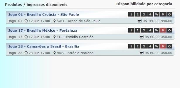 Ingressos regulares para jogos da seleção brasileira na Copa do Mundo de 2014 estão esgotados