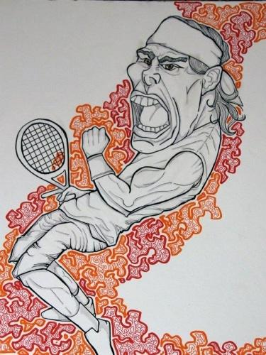 Rafael Nadal também ganhou uma versão de Roxane, apesar de ela não gostar do estilo: 'caricaturas são arriscadas'