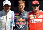 Qual piloto de F1 você seria... Massa, Alonso, Vettel ou Raikkonen? - Montagem com fotos Saeed Khan/AFP