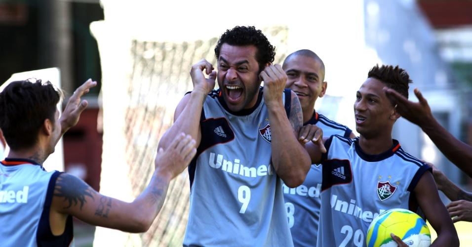 15.03.2014 - O Fluminense realiza o último treino antes do clássico contra o Vasco