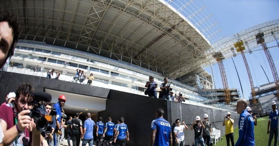 Entrada dos vestiários que serão utilizados pelos jogadores na Copa do Mundo