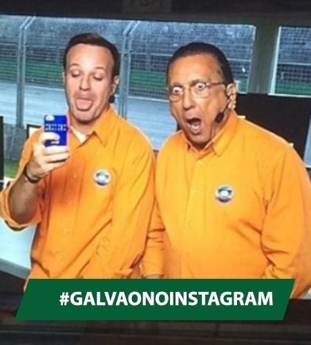 Galvão fez essa cara aí com Rubinho no treino de sábado. Na corrida de domingo, a cara de susto deu lugar a uma irritação