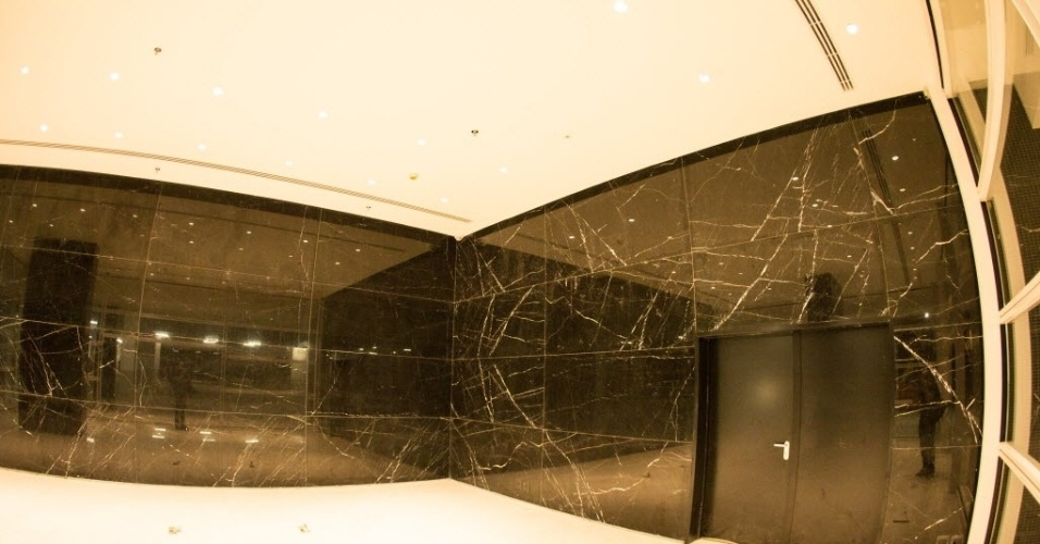 Decoração de boa parte do estádio Itaquerão conta com mármore