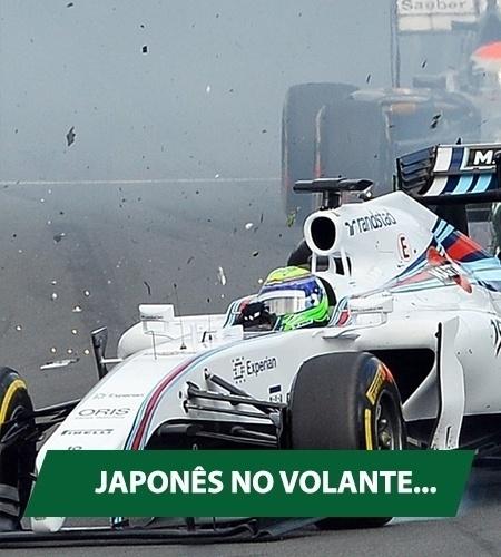 Massa tinha muitas esperanças na estreia da F-1. Só não contava com um japonês que vinha por trás