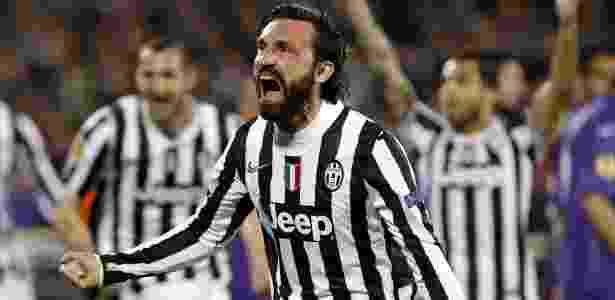 20.mar.2014 - Andrea Pirlo comemora após marcar para a Juventus na partida contra a Fiorentina - REUTERS/Giampiero Sposito