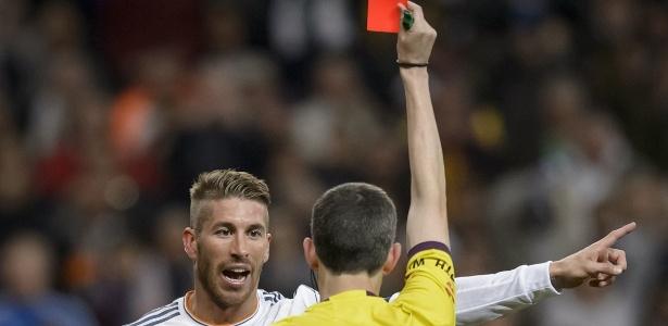 Sergio Ramos é o jogador que mais foi expulso na história do Real Madrid