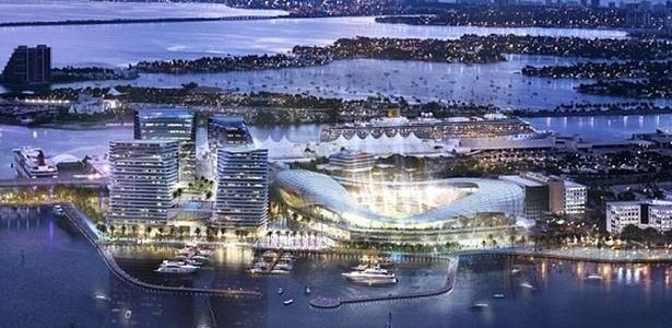 Projeto do estádio que Beckham e seus sócios pretendem construir em Miami
