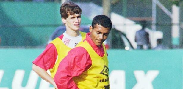 Sávio e Romário atuaram juntos no Flamengo em 1995, mas clube não empilhou títulos - Luciana Whitaker/Folha Imagem