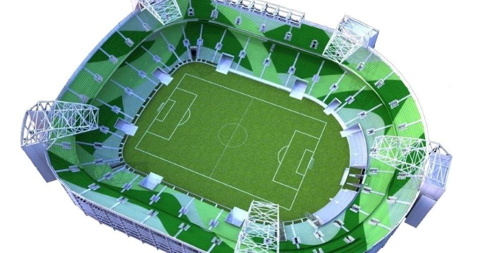 Projeção da construtora mostra como ficará o estádio do Palmeiras quando pronto