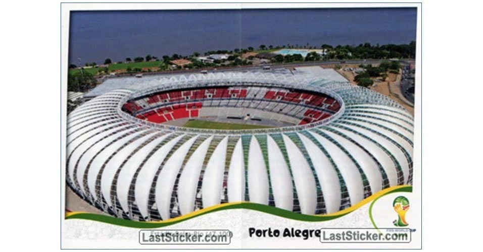 Figurinha do Beira-Rio no álbum da Copa do Mundo de 2014
