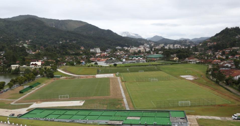 Nova Granja Comary conta com vários campos para que os jogadores da seleção treinem antes e durante a Copa do Mundo