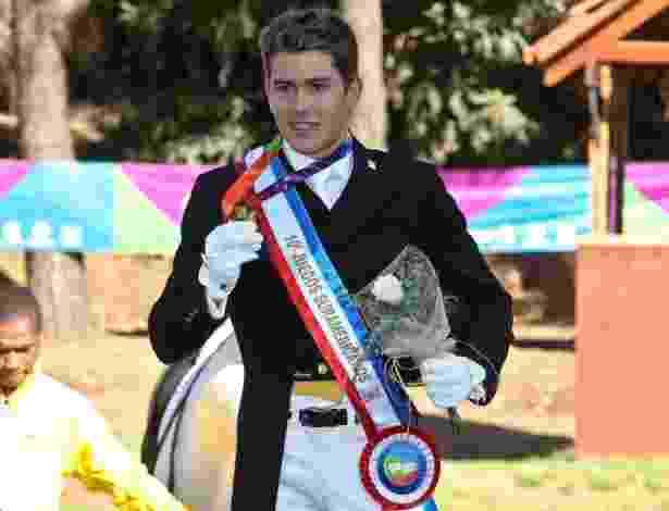26.mar.2014 - João Victor Marcari Oliva conquistou um ouro e uma prata no individual dos Jogos Sul-Americanos do Chile em 2014.