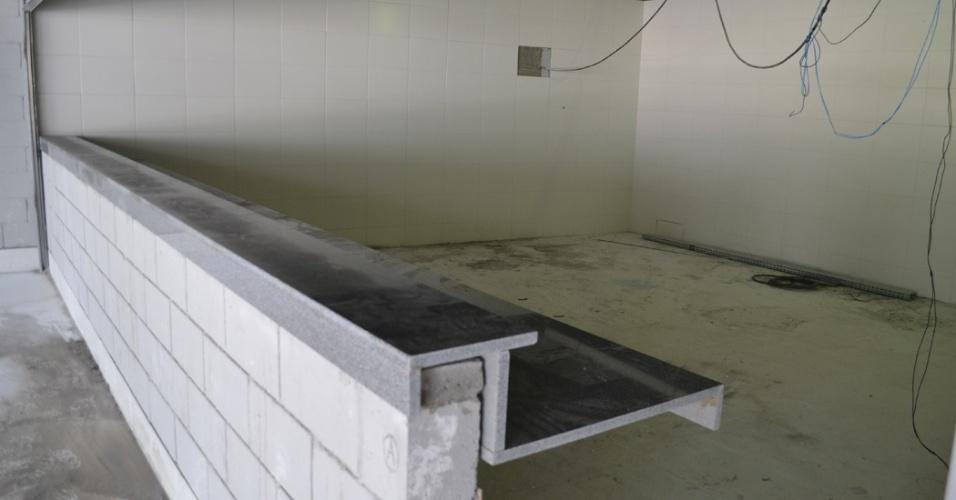 27.mar.2014 - Espaço destinado para uma das lanchonetes na Arena da Baixada