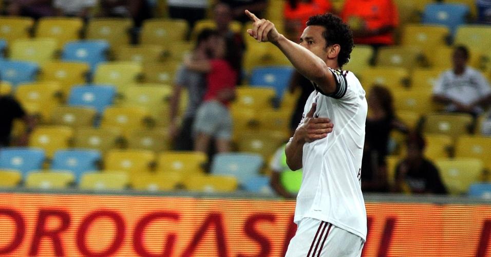 Fred comemora após abrir o placar para o Fluminense contra o Vasco