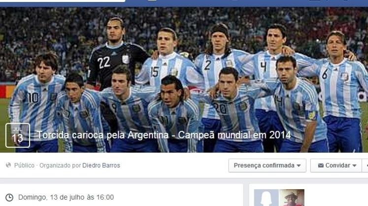 Nas redes sociais, grupos reúnem milhares de brasileiros espalhados por todos os cantos do país torcendo pela Argentina