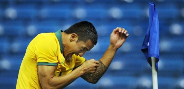Vetarano Tim Cahill é uma das prioncipais peças da seleção australiana na Copa do Mundo