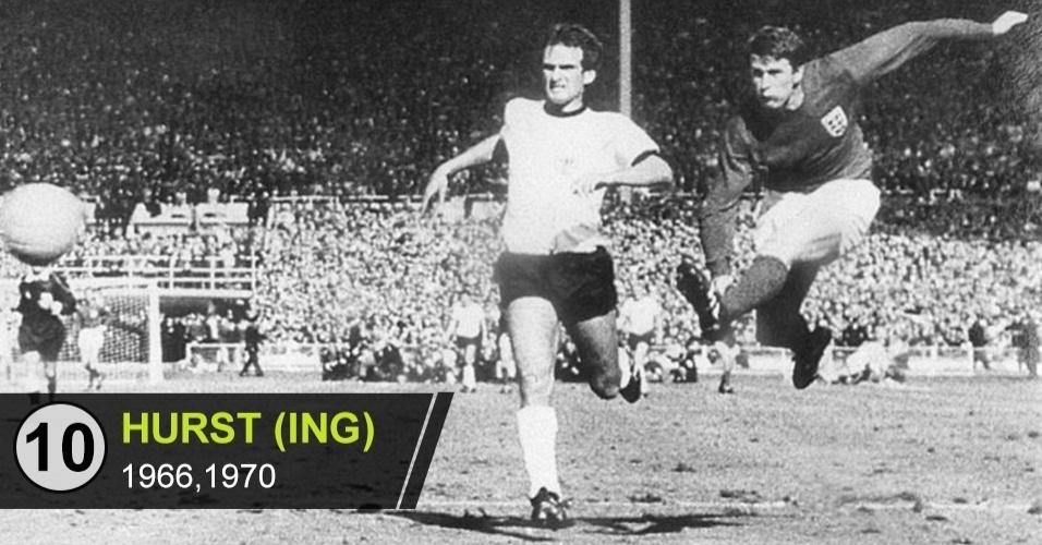 10. Geoff Hurst (Copas de 1966, 1970)