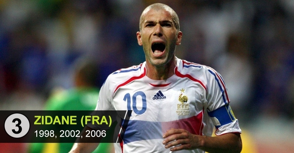 3. Zidane (Copas de 1998, 2002, 2006)