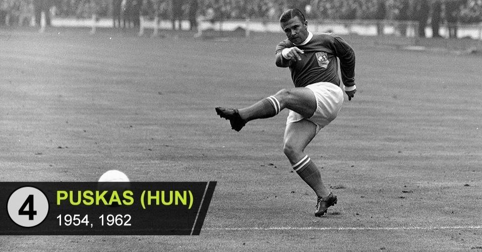 4. Puskas (Copas de 1954, 1962)