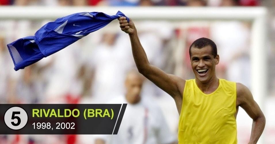5. Rivaldo (Copas de 1998, 2002)