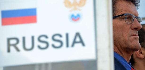 """Fabio Capello se diz """"desapontado"""" com derrota da Rússia para a Bélgica por 1 a 0"""