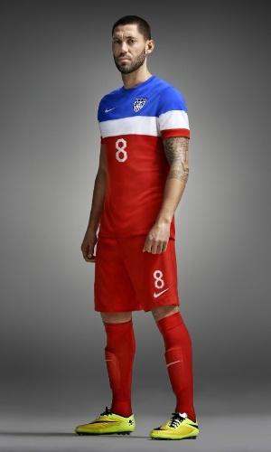 O uniforme reserva dos EUA na Copa-2014 será tricolor, com as três cores da bandeira do país dispostas de forma que lembra a camisa do Criciúma