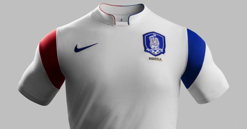 Uniforme da Coreia do Sul para a Copa de 2014