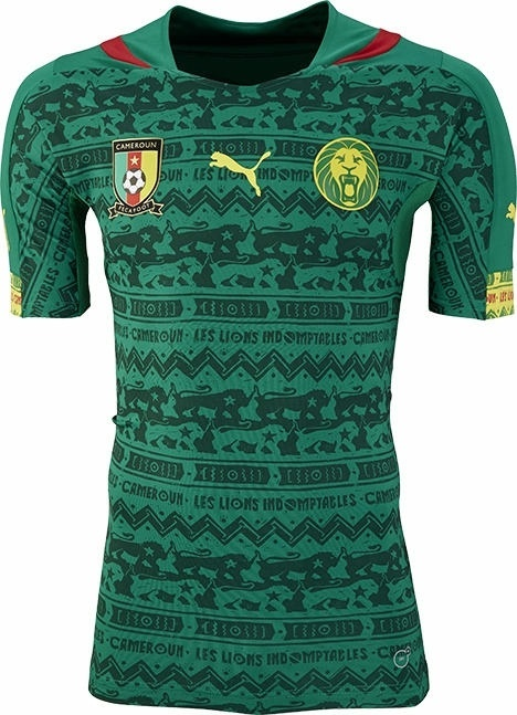 Uniforme de Camarões para a Copa do Mundo de 2014
