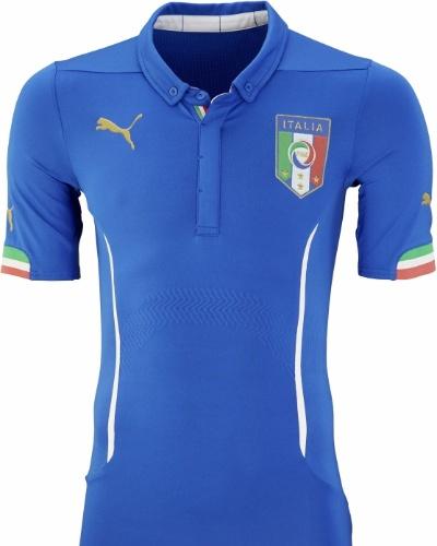 Uniforme número 1 da Itália para a Copa de 2014