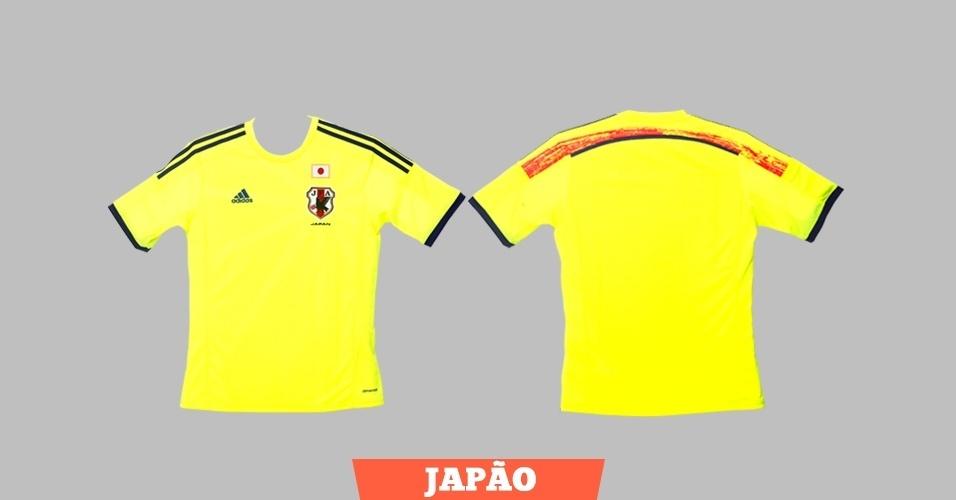 Japão - Camisa amarela - Escudo