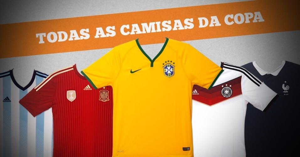 Todas as camisas da Copa