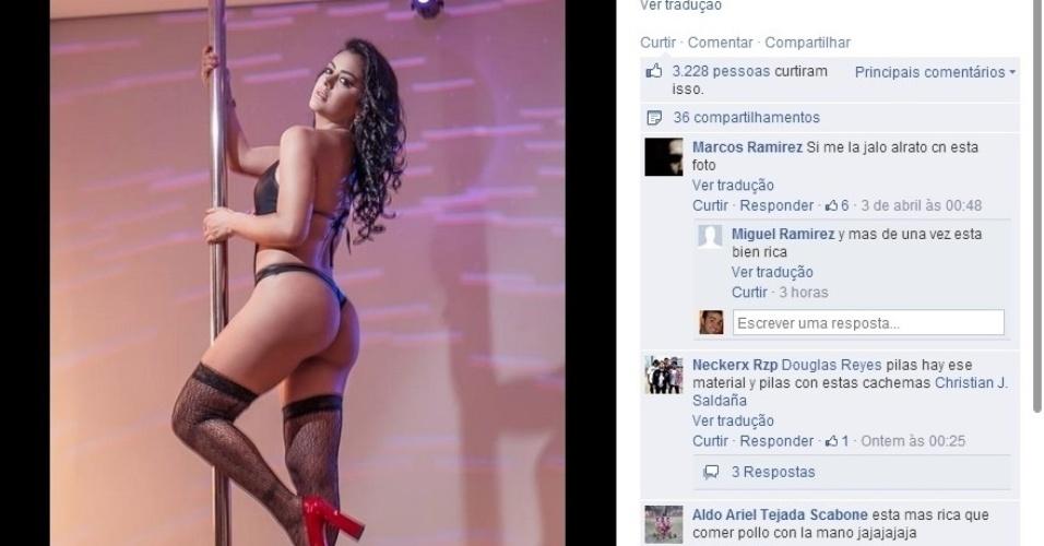 05.04.2014 - Larissa Riquelme fez ensaio sensual para marca de artigos eróticos em motel de São Paulo