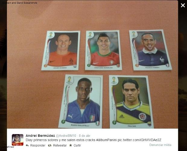 09.04.14 - Andrei Bermúdez, da Costa Rica, comentou sobre os craques que tirou: Arjen Robben, Cristiano Ronaldo, Franck Ribéry, Mario Balotelli e Radamel Falcao