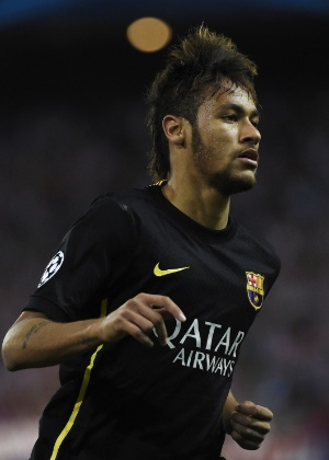 Neymar joga pelo Barcelona na Liga dos Campeões