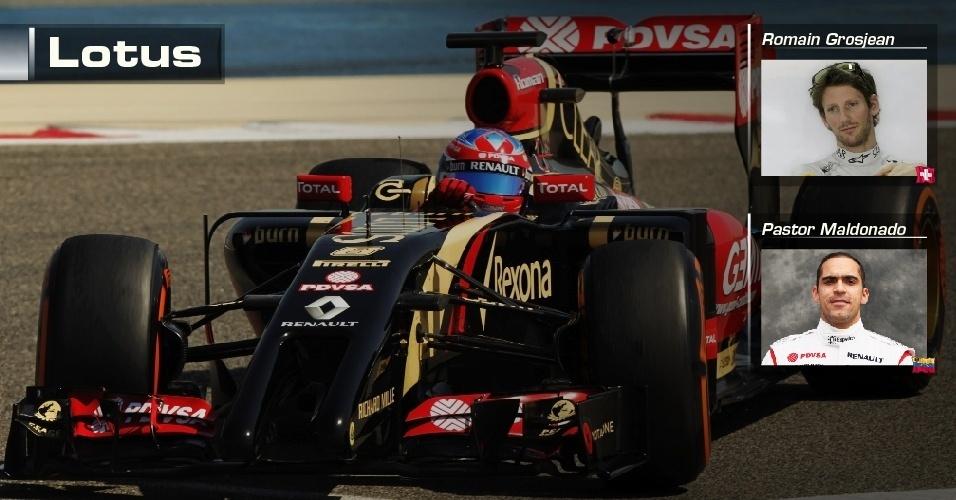 Lotus - Romain Grosjean e Pastor Maldonado