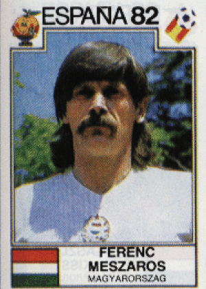 Ferenc Meszaros/Hungria-192: A combinação cabela de tigela, mullets e bigode deve ser única nas Copas. Os mullets emoldurando o bigode, então...