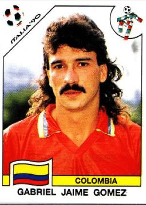 Gabriel Gomez/Colômbia-1990: A Colômbia de 1990 é a seleção com a maior profusão de bigodes da história das Copas.