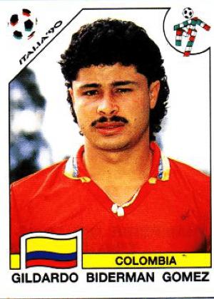 Gildardo Gomez/Colômbia-1990: Tinha bigode cheio. Tinha bigode ralo...