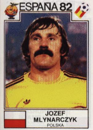 Jozef Mlynarczyk/Polônia-1982: Raspar esse bigode com uma lâmina velha e enferrujada deve ser mais fácil do que dizer o nome do polonês.
