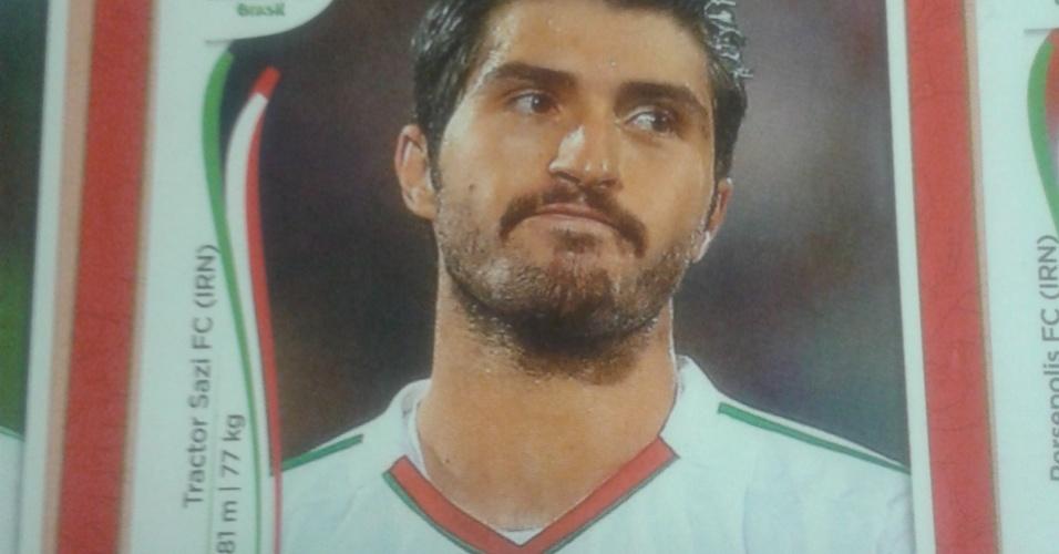 """Karim Ansarifard/Irã-2014: O bigode mais """"parrudo"""" de 2014 está no Irã, com Ansarifard. Ou, pelo menos, estará, até ele lembrar de fazer o bigode junto com o resto da barba."""