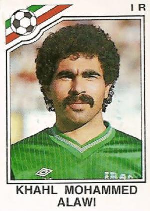 """Khahl Mohammed Alawi/Iraque-1986: Já cantava o Chiclete com Banana: """"cabelo embaraçado, encaracolado..."""" e o bigodão."""