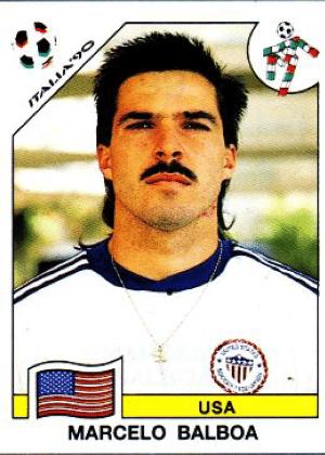 Marcelo Balboa/Eua-1994: O legal de Balboa é que dá para perceber que ele fez a barba e se empetecou para tirar a foto da figurinha. Mas o bigode? Esse ficou.