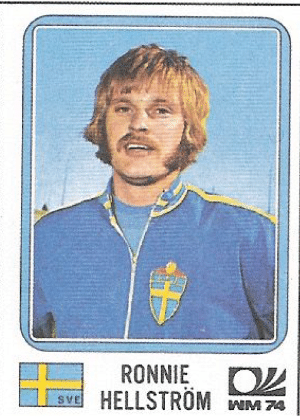 Ronnie Hellström/Suécia-1974: Hellström poderia ser um membro do Abba, mais conhecida banda sueca, com essa costeleta e bigode, não?