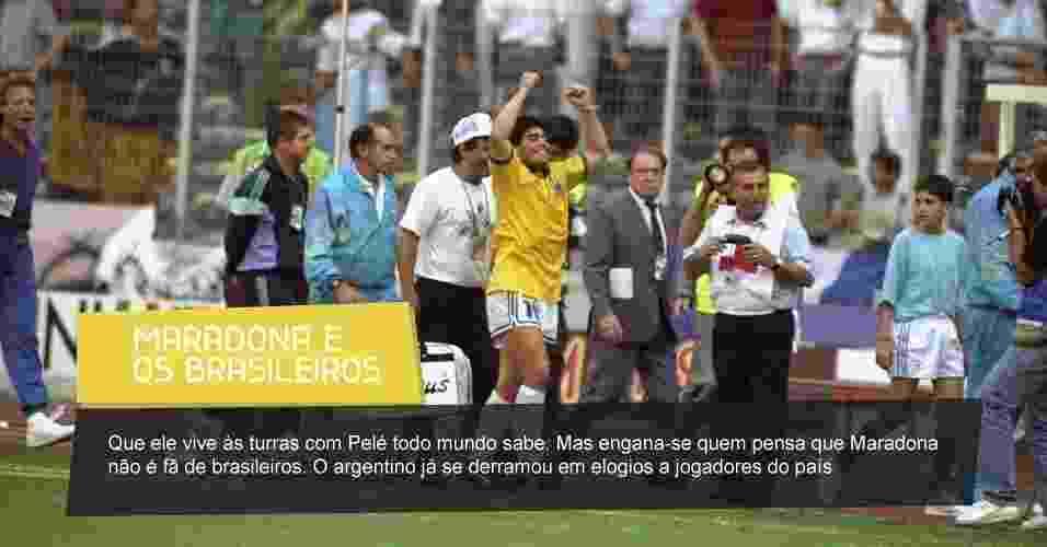 """Em sua autobiografia """"Yo soy el Diego de la gente"""", Maradona opinou sobre 10 jogadores brasileiros - Getty Images"""