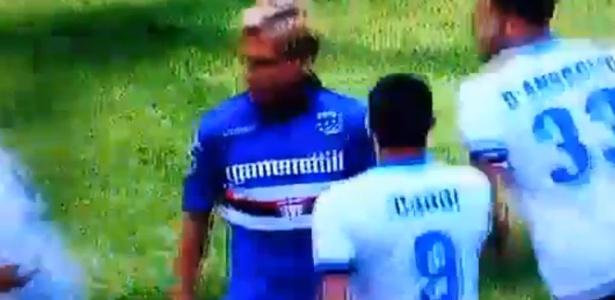 Maxi Lopez ignora cumprimento de Mauro Icardi
