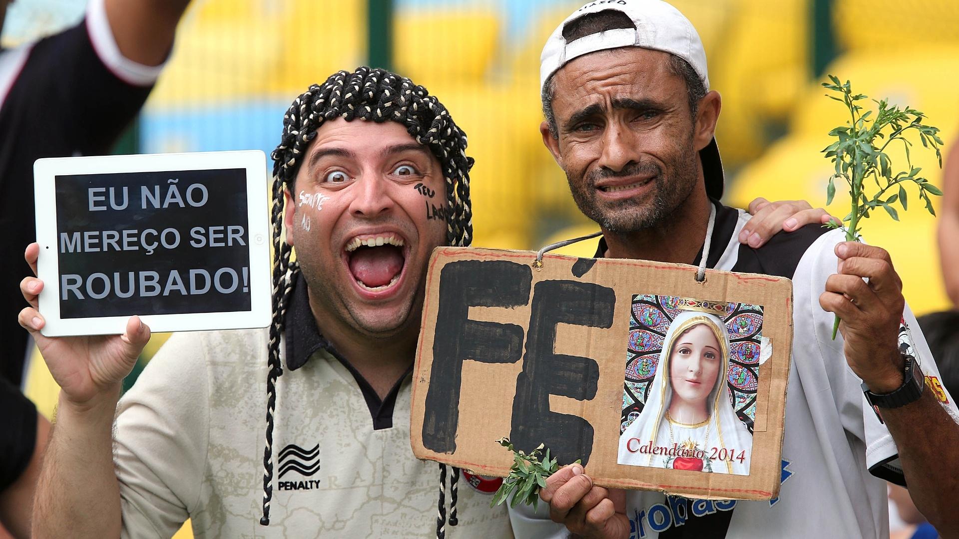 Torcedores do Vasco mesclam fé com bom humor e apreensão com a arbitragem antes da final contra o Flamengo