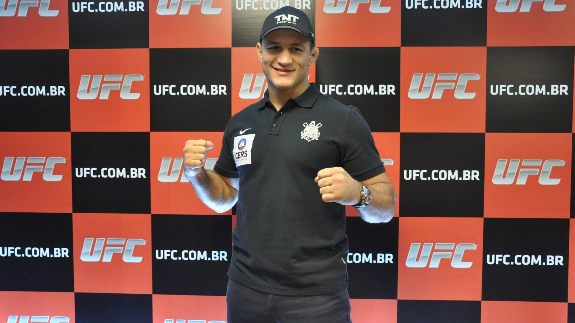 Junior Cigano deu coletiva em 15 de abril para divulgar luta pelo TUF Brasil 3. Brasileiro enfrentará Stipe Miocic, que acontece no dia 31 de maio, no Ibirapuera